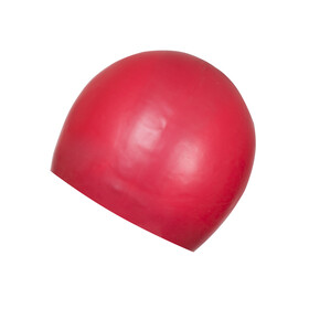 speedo Plain Moulded Silicone Cap USA Red